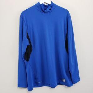 Nike Pro Combat Blue Shirt Men XL